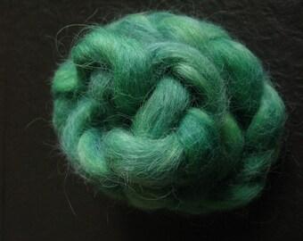 Handdyed Devon Tops: Emerald