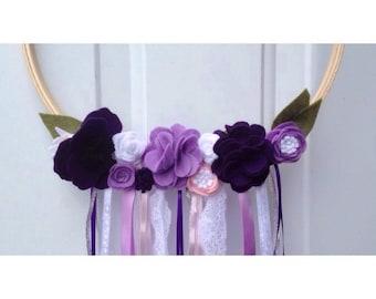 Purple Floral Wreath - Kristine