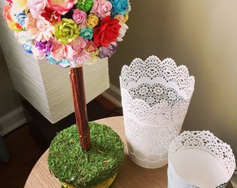 Easter topiaries etsy paper flower spring topiary mulberry paper flowers spring centerpiece topiary tree easter mightylinksfo