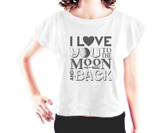 Moon tshirt moon tee women graphic shirt blogger t shirt instagram shirt art shirt tumblr tshirt women tshirt crop top crop tee size S