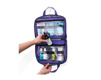 Travel Toiletry Bag & Cosmetic Makeup Organizer, Medium Sized Perfect for a Short Trip or Weekend Getaway
