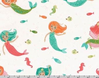 Aquatic Friends - Mermaids Ocean by Sea Urchin Studio from Robert Kaufman