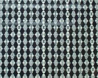 "LAMINATED Cotton  - Gray Empire Mark, 56"" Wide, BPA & PVC Free"