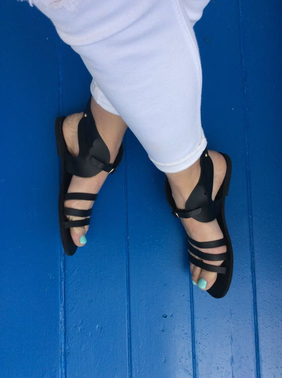 sandals Sandals Sandals Hermes leather Gladiator sandals Leather Handmade Sandals Greek sandals Hermes Black shoes Hermes Greek Women 1Iq4nwx5vq
