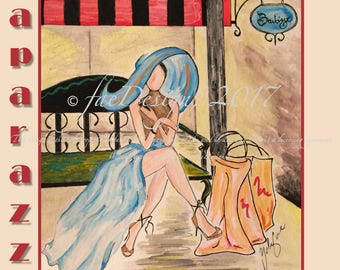 Paparazzi, Watercolor Fashion Illustration