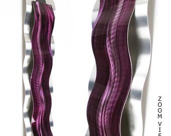 "Metal Art Wall Sculpture ""Rythmic Curves"" by Brian M Jones Modern Paintings & Decor Purple Cascade"