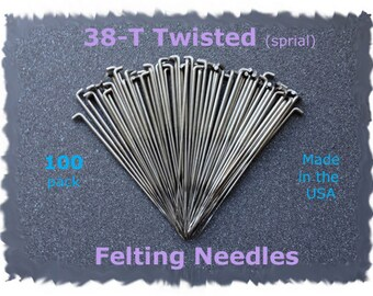 Twisted Spiral Needle Felting Needles 38T 100 from Dream Felt