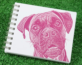 Boxer Dog Mini Journal, Dog Journal, Sketchbook, Dog Notebook