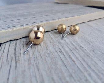 Gold Ball Studs, Ball Stud Earrings, Earring Stud Set, Earring, Stardust,Gold Ball Earrings,Everyday Earrings, Gift for Her