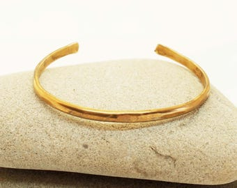 Women's Bronze Bracelet, 8th Anniversary Gift, Rustic Bronze Cuff