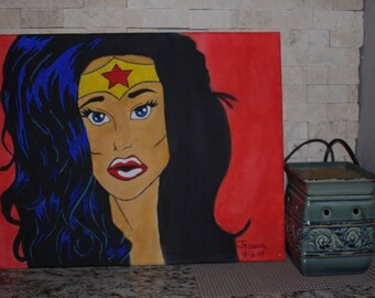 WonderWoman Acrylic Painting