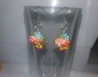 Flowers and Ladybird Earrings