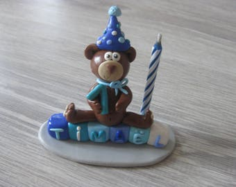 Custom polymer clay (made-to-order) birthday candle