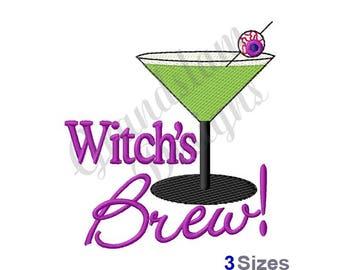Witch's Brew Halloween - Machine Embroidery Design