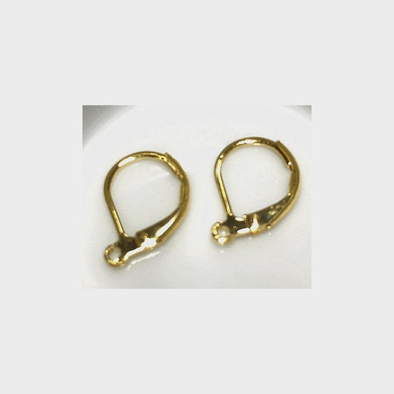 Gold Plated Lever Back Earring 10 x 13mm