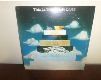 Vintage 1974 LP Record The Moody Blues This  is the Moody Blues Excellent Condition 5255