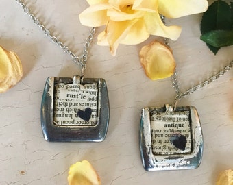 Antique repurposed necklace (rustic/typwriter style)