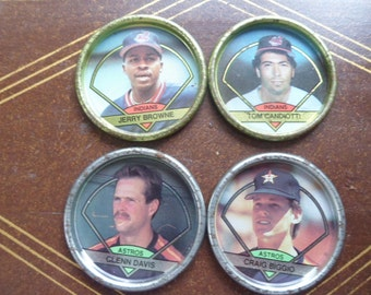 4 - 1990s Topps Baseball Coins, Indians & Astros   (T)