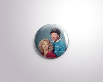 Sam & Diane. Cheers Collection Pinback Button [1.5 Inch]