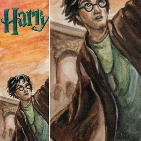 Custom bookmarks, hand painted bookmark, Harry Potter bookmark, watercolor bookmark, custom
