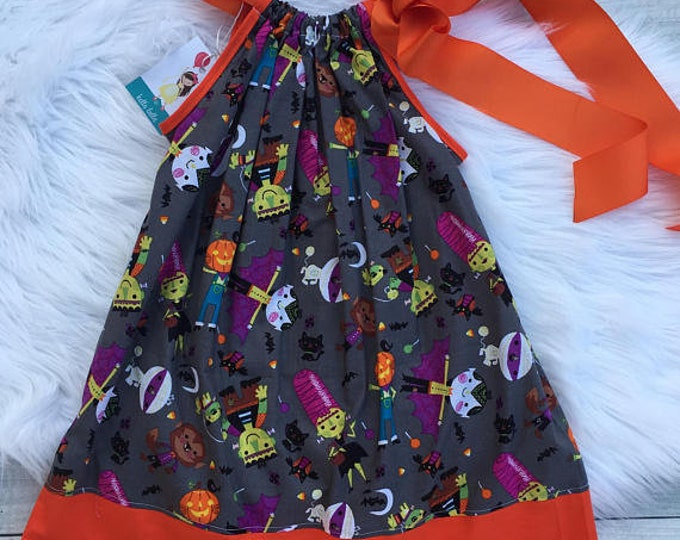 Monster Party Pillowcase Dress READY TO SHIP