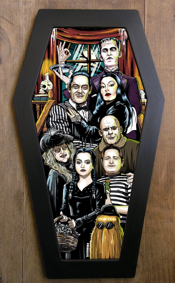 The Addams Family Coffin Framed Print