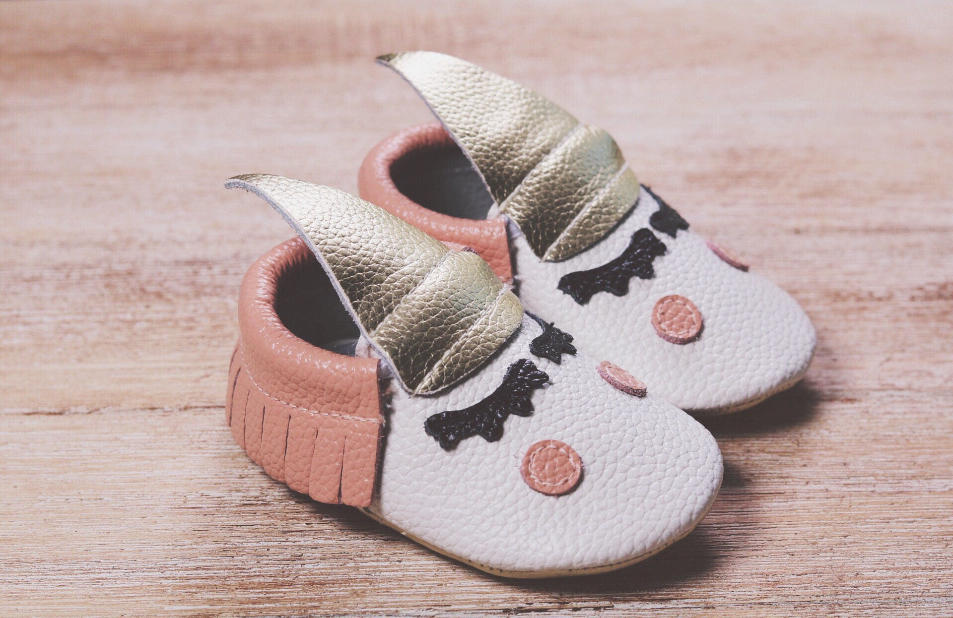Unicorn Baby Moccasins Leather Toddler Moccs Baby Leather Moccasins