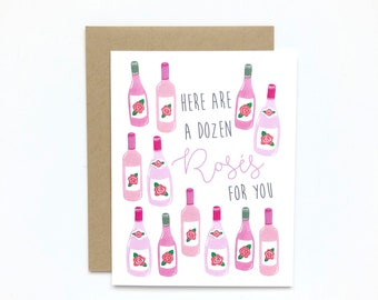 A Dozen Rosés - Birthday Card, Love Card, Anniversary Card, Friendship Card