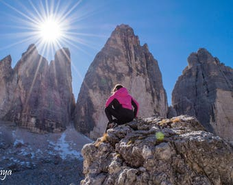 "Original photographic print ""Three tops of Lavaredo"" by Emya Photography"