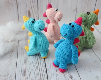Crochet dinosaur Crochet dragon Dragon toy Amigurumi dragon Green dragon Stuffed dragon Baby dragon Baby shower gift Crochet baby toys