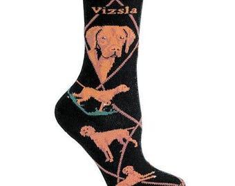 Vizsla Dog Breed Lightweight Stretch Cotton Adult Socks