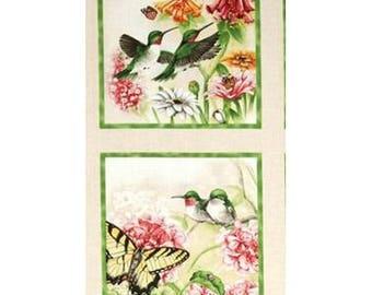 Fabric cotton pillows scrapbooking thumbnail 2 HUMMINGBIRDS I