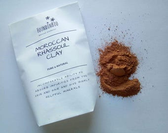 MOROCCAN RHASSOUL Red Clay   Ghassoul Clay  Fine Powder   Lava clay   Soap making    Natural Hair Conditioner   Face Mask   Hair Mask