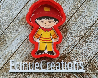 Kid Fire Fighter Cookie Cutter
