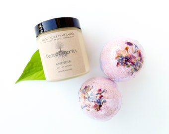 Candle Gift Set Bath Bomb Gift Set Candle Bath Bomb Set Beauty Gift Mothers Day Gift Gift for Wife Birthday Gift Bath Gift for Anniversary