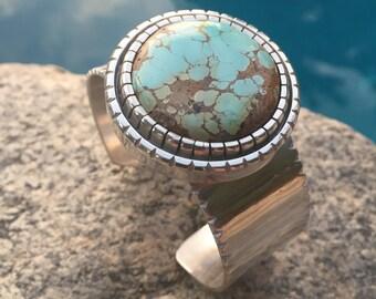 Sky Cloud Turquoise Sterling Silver Bracelet