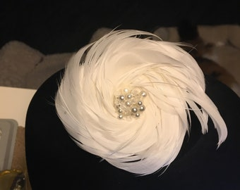 feather rosette pin