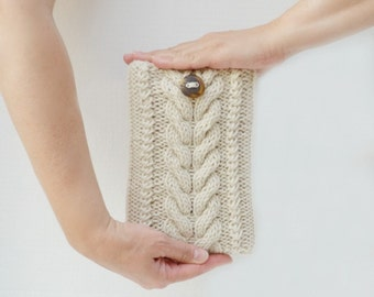 Kindle Fire knit sleeve cover cozy off white