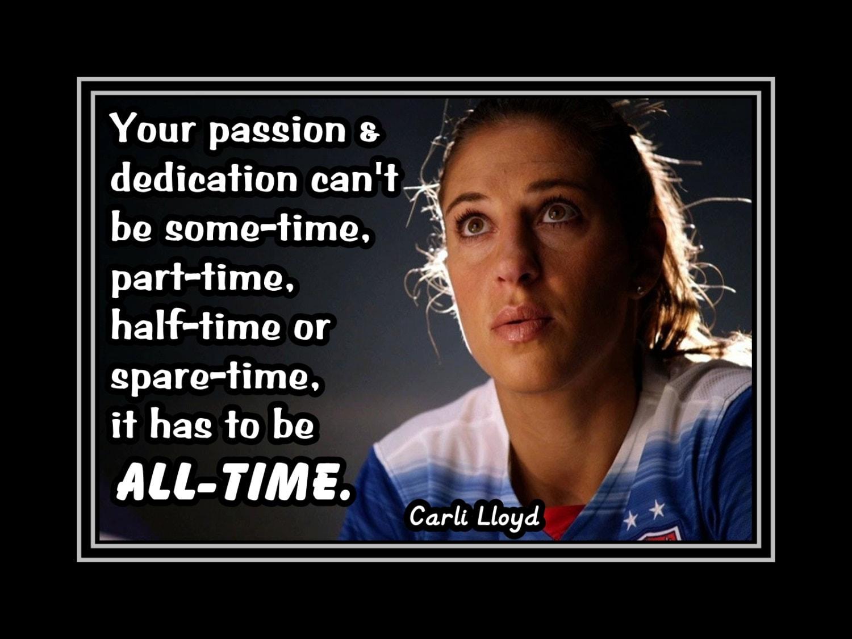 Carli Lloyd Quotes Carli Lloyd Daughter Inspiration Soccer Art Print Daughter