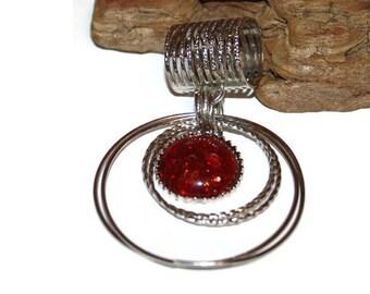 Vintage Scarf Holder, Faux Amber Scarf Slide, Scarf Jewelry, Scarf Clip, Scarf Slider, Scarf Ring, Gift for Grandmother, Gift for Mom