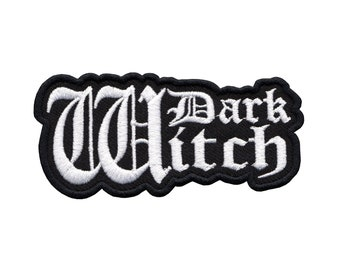 Dark Witch Lady's embroidery patch