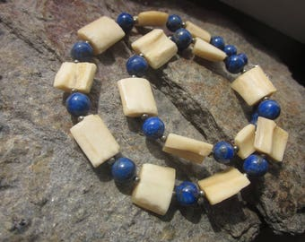 Bone Lapis Lazuli Necklace for difficult times