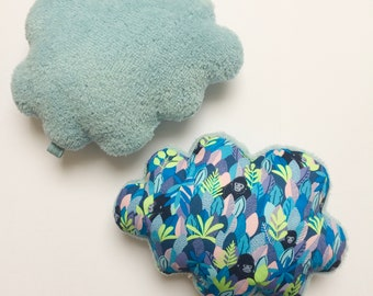 Soft Musical cloud cushion or Simple blue plush and Jungle blue - music - box a star in my cabin