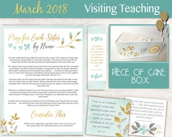March 2018 Visiting Teaching Message, lds Printable, Quotes LDS, VT LDS handouts, Visiting Teaching, Relief Society Birthday, Box Template