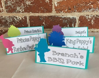 Trolls Food Labels/ Place Cards