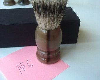 1 pc 22mm Knot Silvertip Badger Hair Shaving Brush Real Horn Handle #6