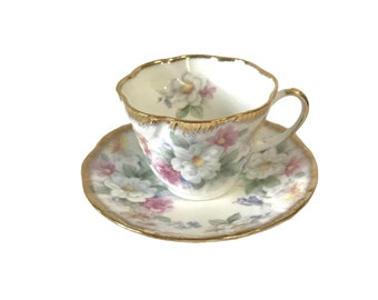 Vintage Queen's Rosina Floral Tea Cup and Saucer
