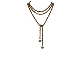 Alleda Limited Edition Long Labradorite Lariat Necklace