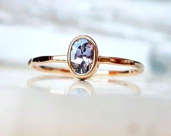 Gold Ring 14k with natural Tanzanite - Tanzanite Gold Ring 14k - Yellow Gold Ring - White Gold Ring - Rose Gold Ring with Tanzanite
