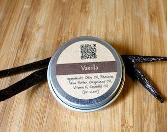 Vanilla Beeswax Lip Balm Tin